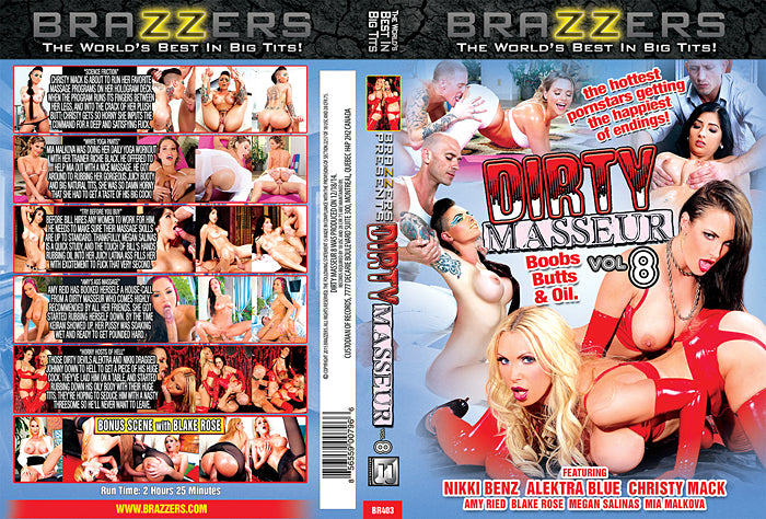 Dirty Masseur #8 - Brazzers 2015 Adult XXX Sealed DVD