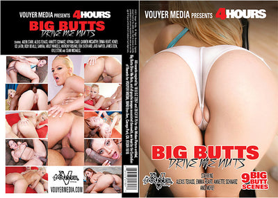 Big Butts Drive Me Nuts Vouyer Media 4 Hrs Sealed DVD