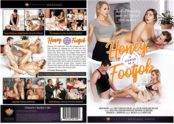 Honey, It Started As A Footjob Fantasy Massage Sealed DVD