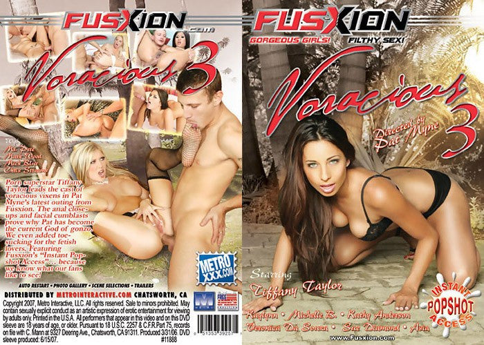 Voracious #3 (tiffany taylor) - Fusxion Adult XXX Sealed DVD