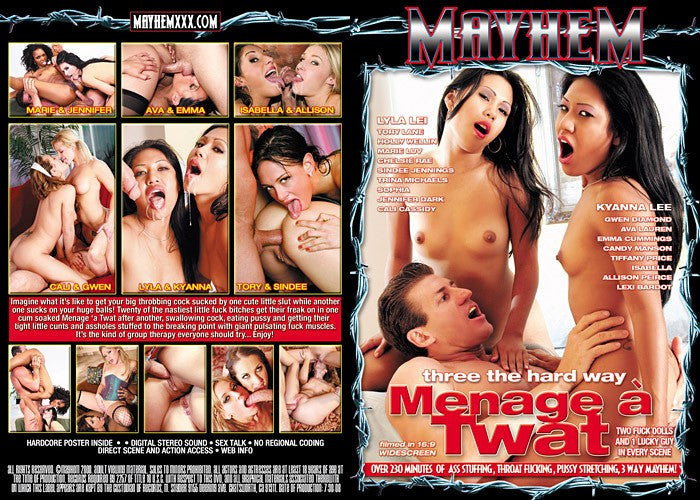 Menage a Twat - Mayhem Adult XXX DVD