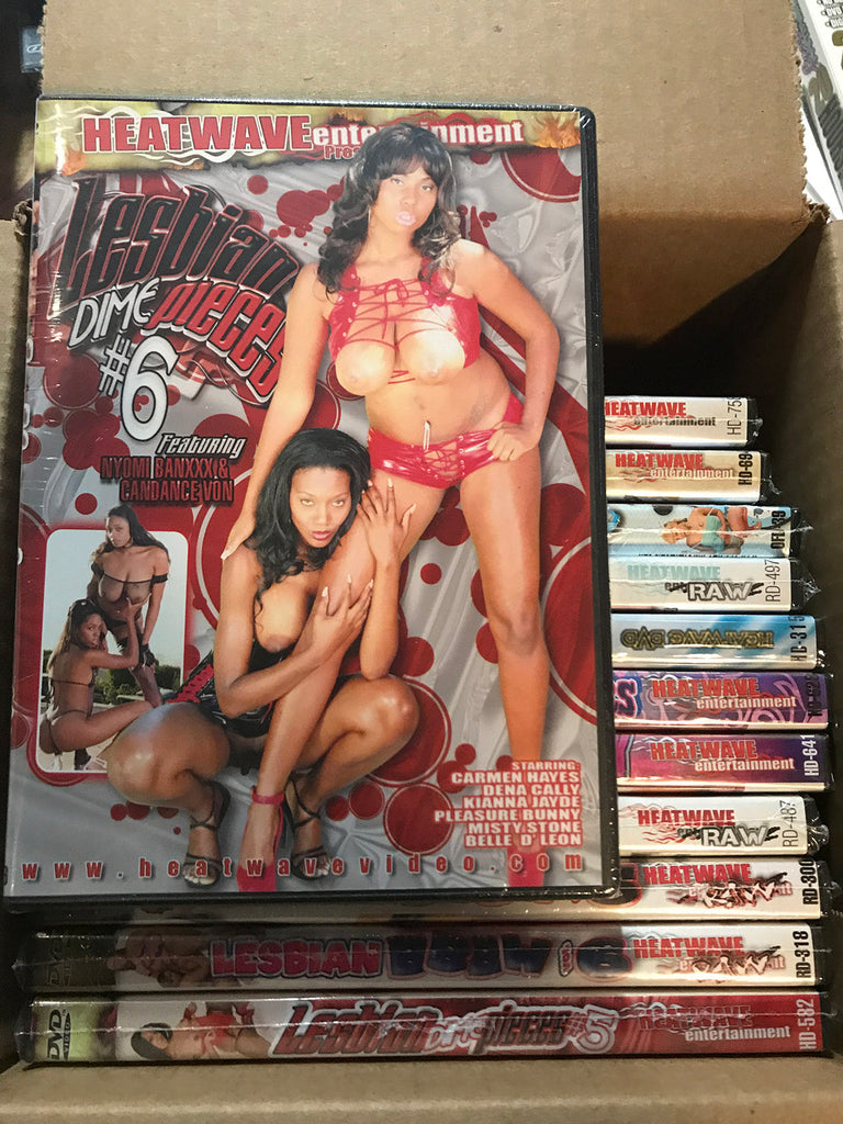 12 Heatwave Black Lesbian Sealed DVDs (exact titles)