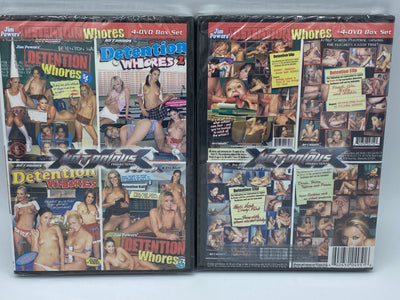 Detention Whores #1,2,3,4 Notorious Sealed 4 DVD Set