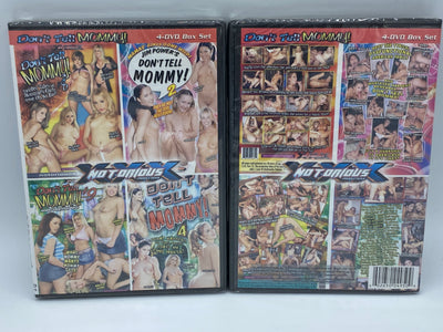 Dont Tell Mommy 2,4,8,9 Notorious Sealed 4 DVD Set