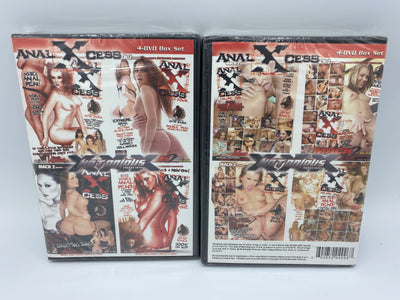 Anal Xcess Notorious Sealed 4 DVD Set