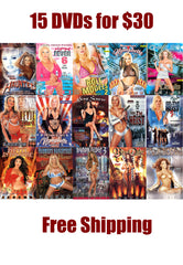 15 Different DVDs Real Adult Movies (Plots, Story and Hardcore Sex) - Free Shipping