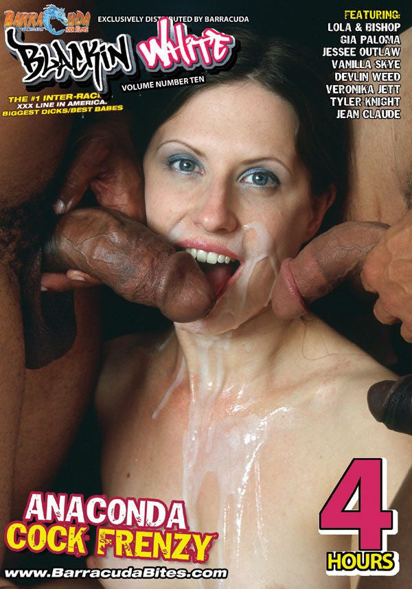 Anaconda Cock Frenzy - 4 Hour Interracial Adult DVD in Sleeve