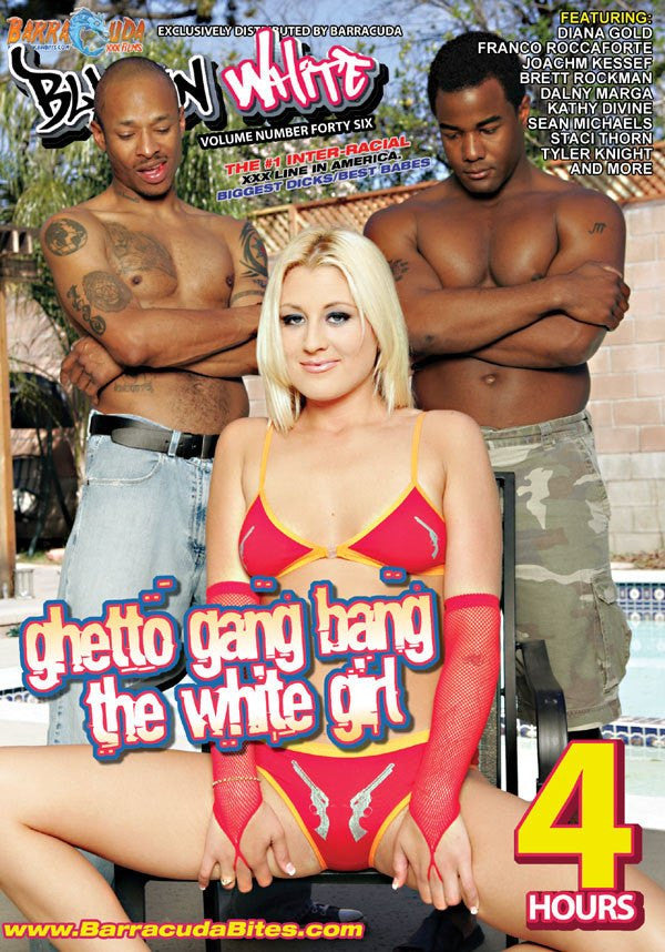 Ghetto Bang the White Girl - 4 Hour Sealed Interracial Adult DVD in Sleeve