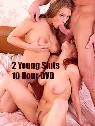 2 Young Sluts (Threesomes 2 Girls 1 Guy) - 10 Hour Playtime DVD