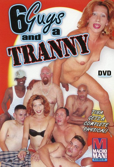 6 Guys and a Tranny - Shemale - Transsexual DVD