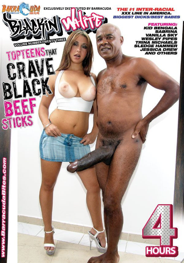 Top Teens That Crave Black Beefsticks - 4 Hour Interracial Adult DVD in Sleeve