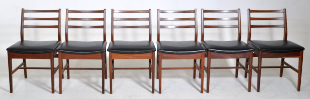 Mid-Century Modern Chairs in Walnut by G Plan Chairs (Set of 6)