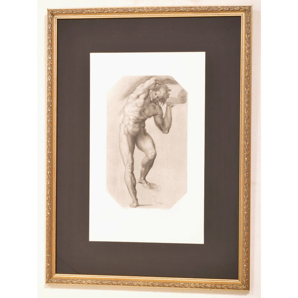 """Dessine par Daniel de le Gerre"" Antique French Engraving by Alphonse Leroy (1820-1902)"