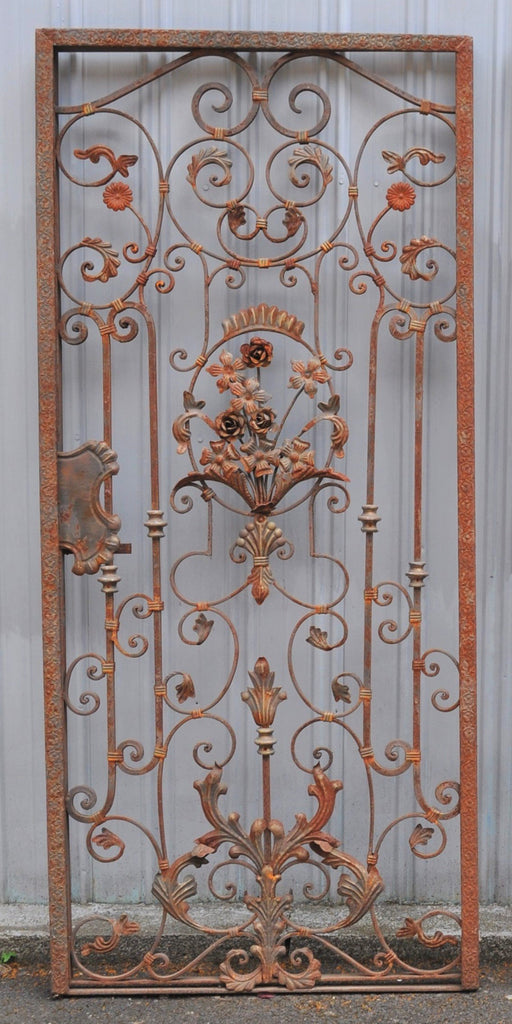 Antique Victorian Cast & Wrought Iron Gate