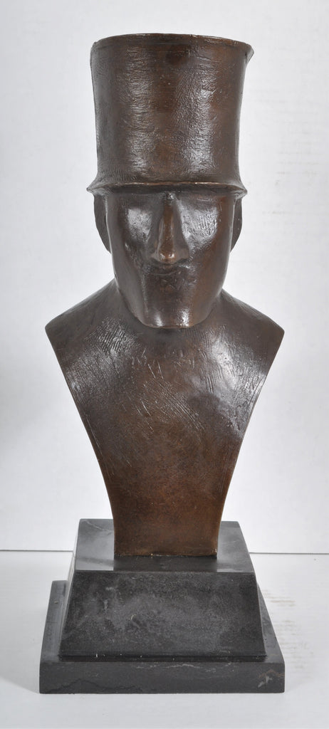 """Man in Top Hat"" Bronze Sculpture by Elie Nadelman (February 20, 1882—December 28, 1946)"
