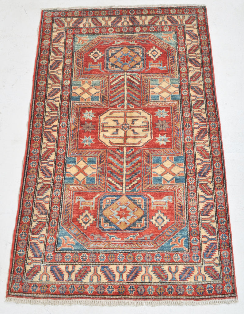 Caucasian Style Vegetable Dyed Star Kazak Rug