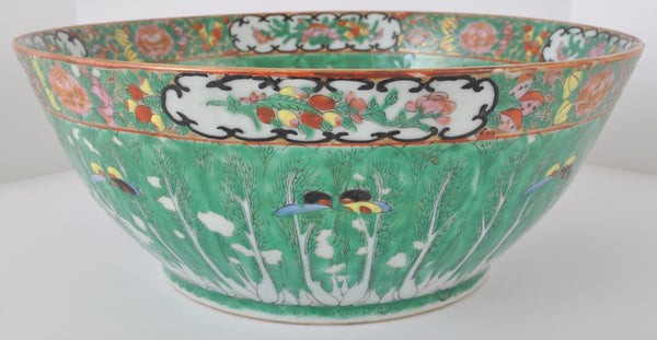 Antique Chinese Qing Dynasty Famille Rose Porcelain Bowl, Circa 1900