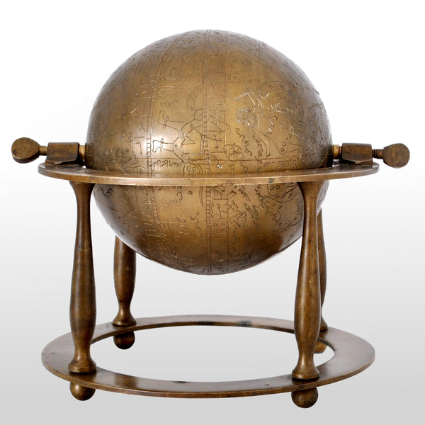 Antique 19th Century Islamic Persian Arabic Bronze Celestial Globe Astrolabe, circa 1850