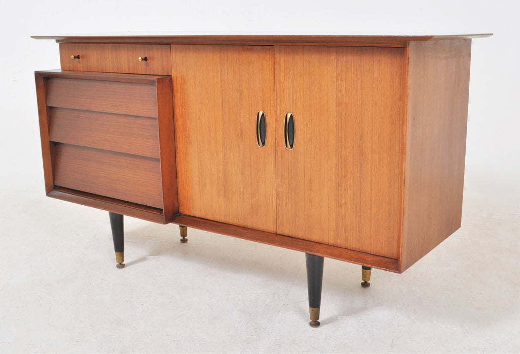 "Mid-Century Modern Teak Credenza Sideboard by ""Beautility,"" Circa 1960."