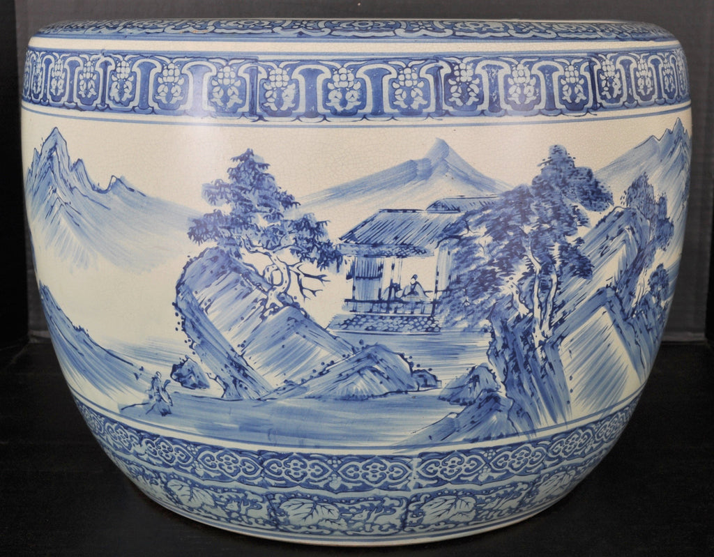 Antique Japanese Meiji Period Pottery Hibachi, Circa 1880