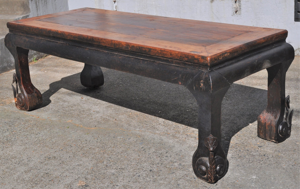 Antique Chinese Qing Dynasty Elm Dining/Altar Table, Circa 1850