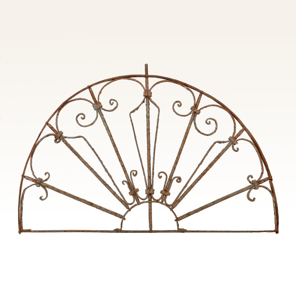 Antique French Wrought Iron Demi-Lune Balustrade/Panel, Circa 1880
