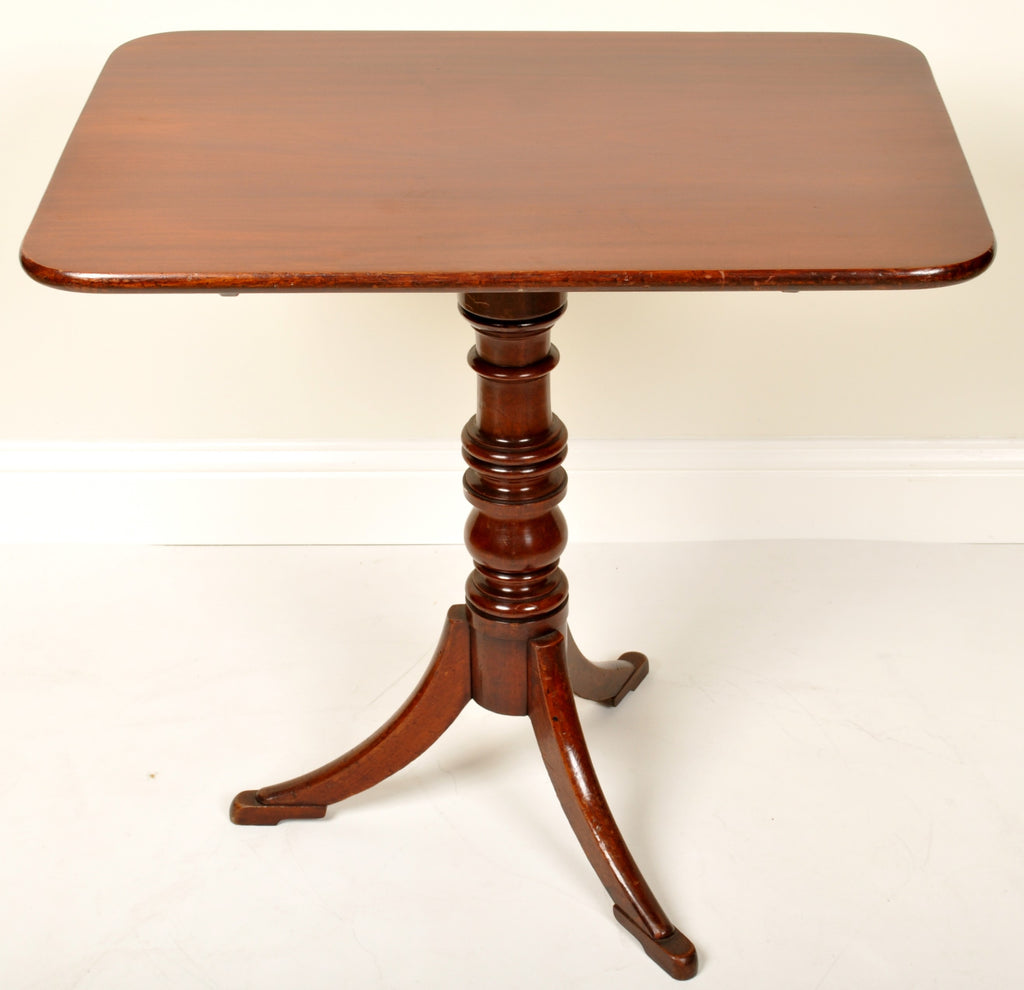 Antique English Regency Georgian Mahogany Tilt-Top Tea Table, Circa 1820