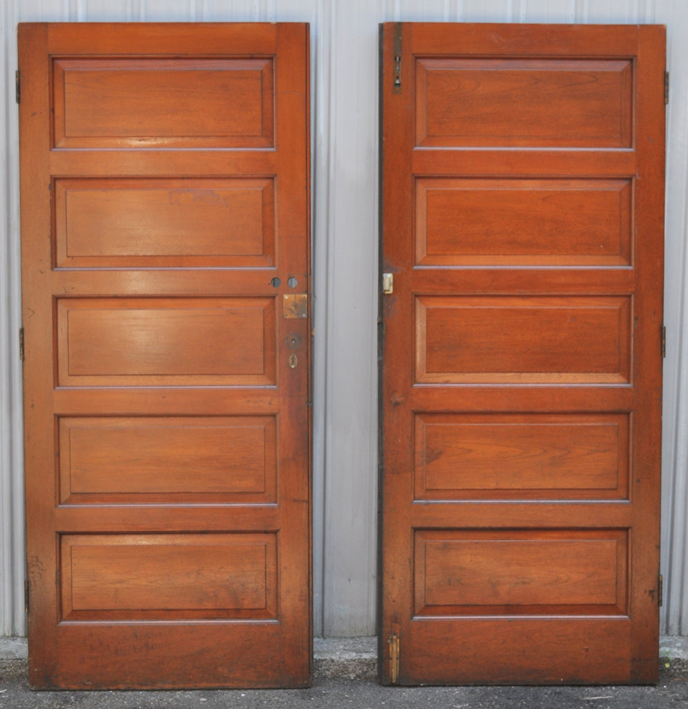 Pair of Antique English Oak Doors, Circa 1900