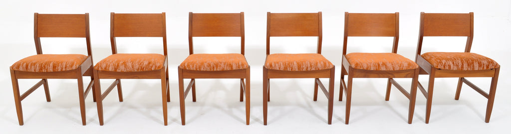 Stupendous Set Of Six Mid Century Modern Danish Style Teak Dining Bralicious Painted Fabric Chair Ideas Braliciousco