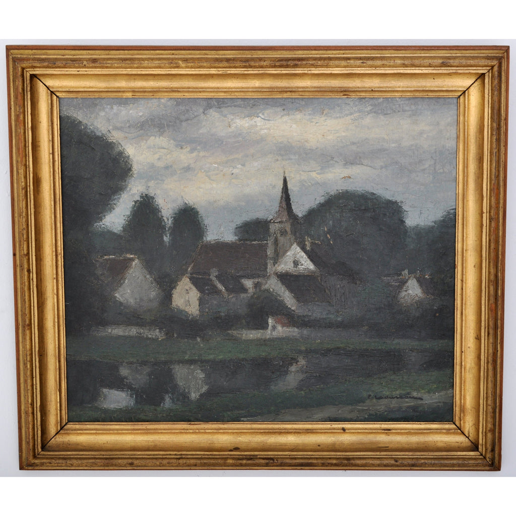Antique French Impressionist Oil Painting by Pierre Ladureau (French, 1882-1975), Circa 1920