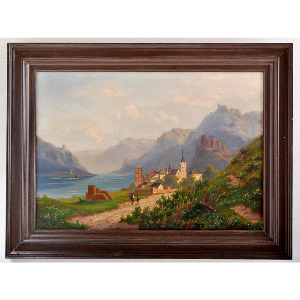 Antique 19th Century French Painting Signed by Charlier, Circa 1850