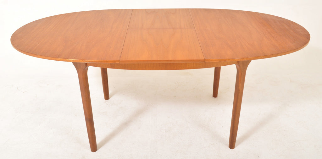 Mid-Century Modern Danish Teak Butterfly Leaf Dining Table by A.H. McIntosh & Co, 1960s