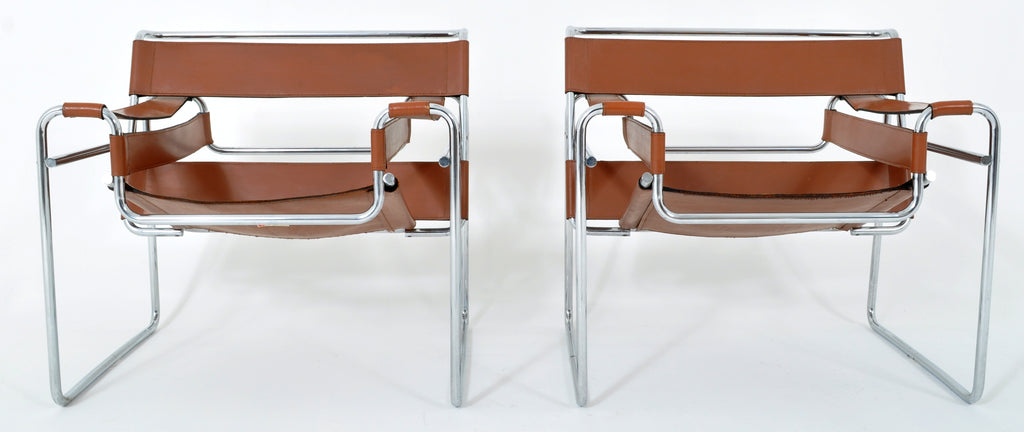Pair of Vintage Wassily Chairs by Marcel Breuer and Produced by Knoll