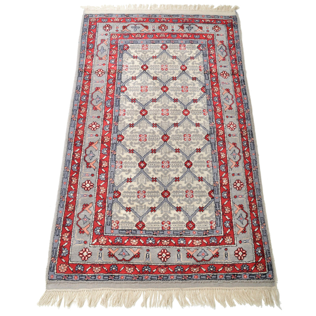 Tribal Afghan Turkoman Geometric Rug