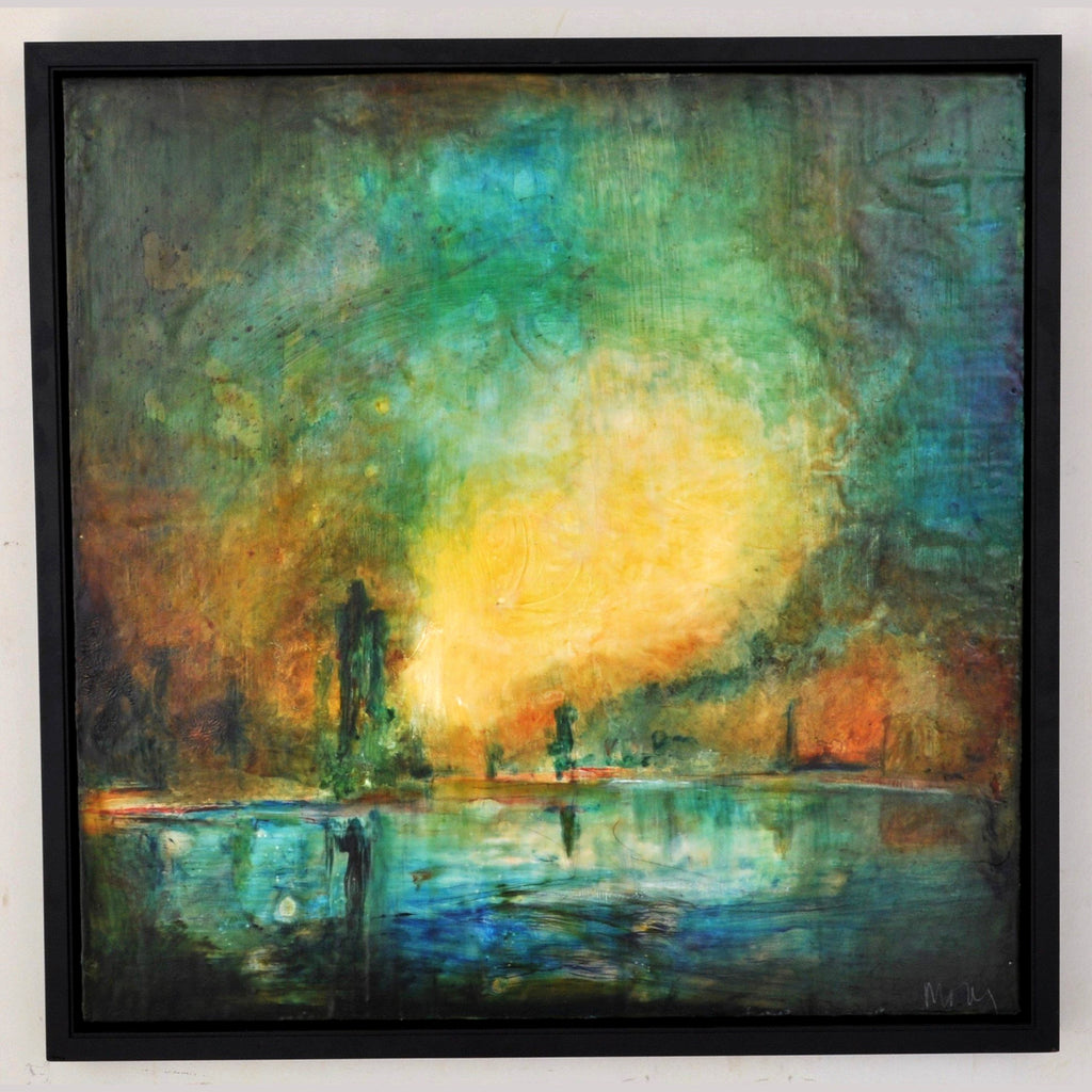 """New Orleans,"" Encaustic painting Molly Cliff Hilts (1958- )"