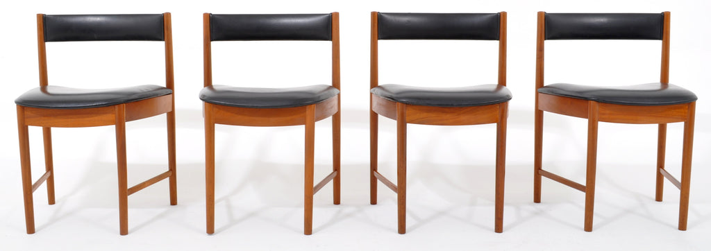 Miraculous Set Of 4 Mid Century Modern Teak Dining Chairs By Mcintosh Bralicious Painted Fabric Chair Ideas Braliciousco