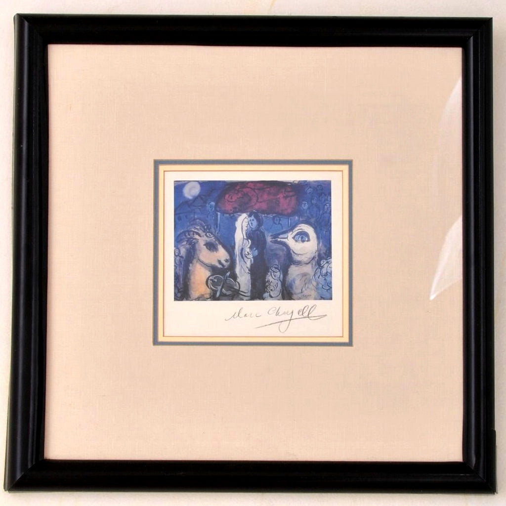 Marc Chagall Pochoir Lithograph, 'Wedding Party', Certificate of Authenticity