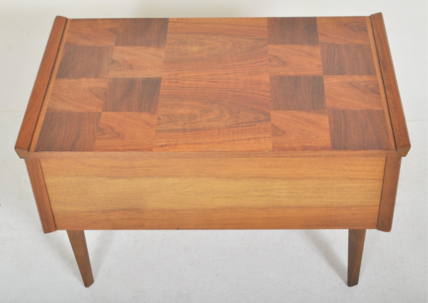 Mid-Century Modern Danish Teak Sewing Box/Work Table, 1960s