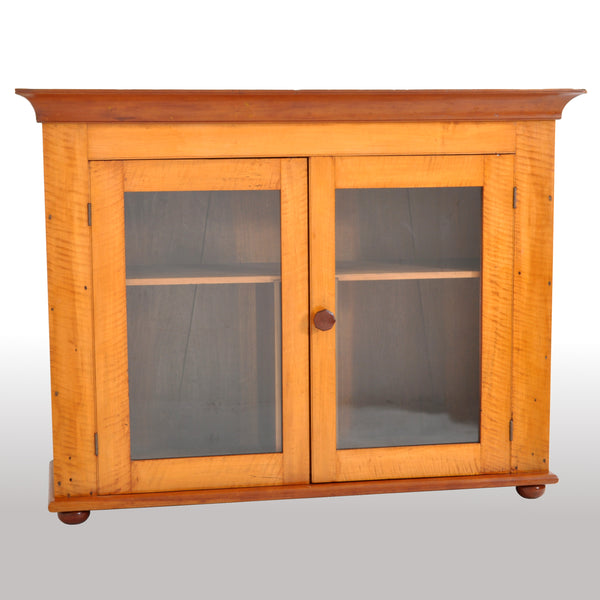 Antique 'Tiger' Maple Two Door Cabinet, Pennsylvania, circa 1840