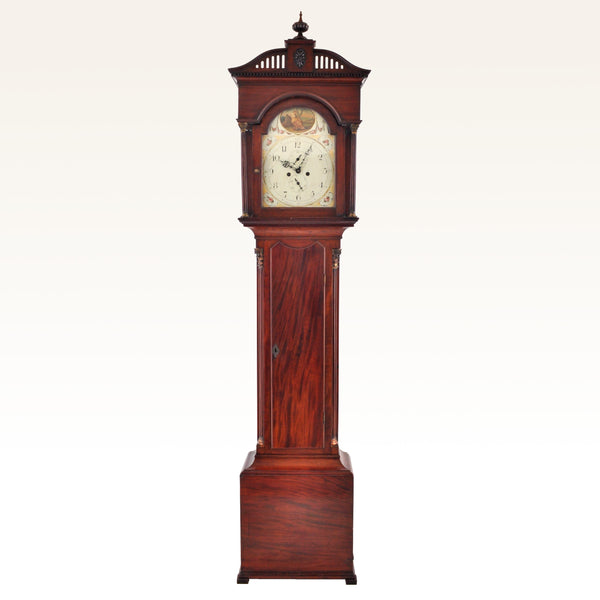 Antique English George III Mahogany 8-Day Longcase/Grandfather Clock by Clement Gowland of Sunderland, Circa 1790
