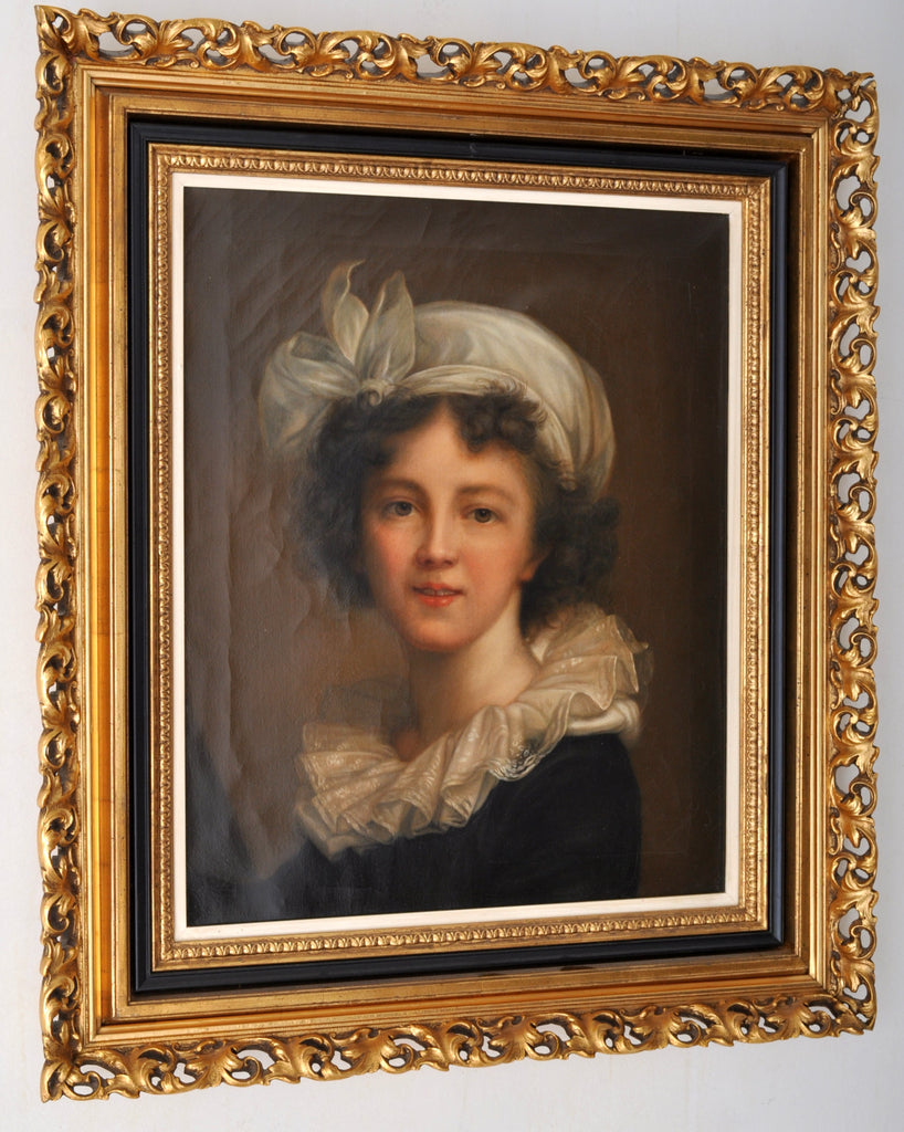 Antique French Oil on Canvas Portrait, Circa 1780
