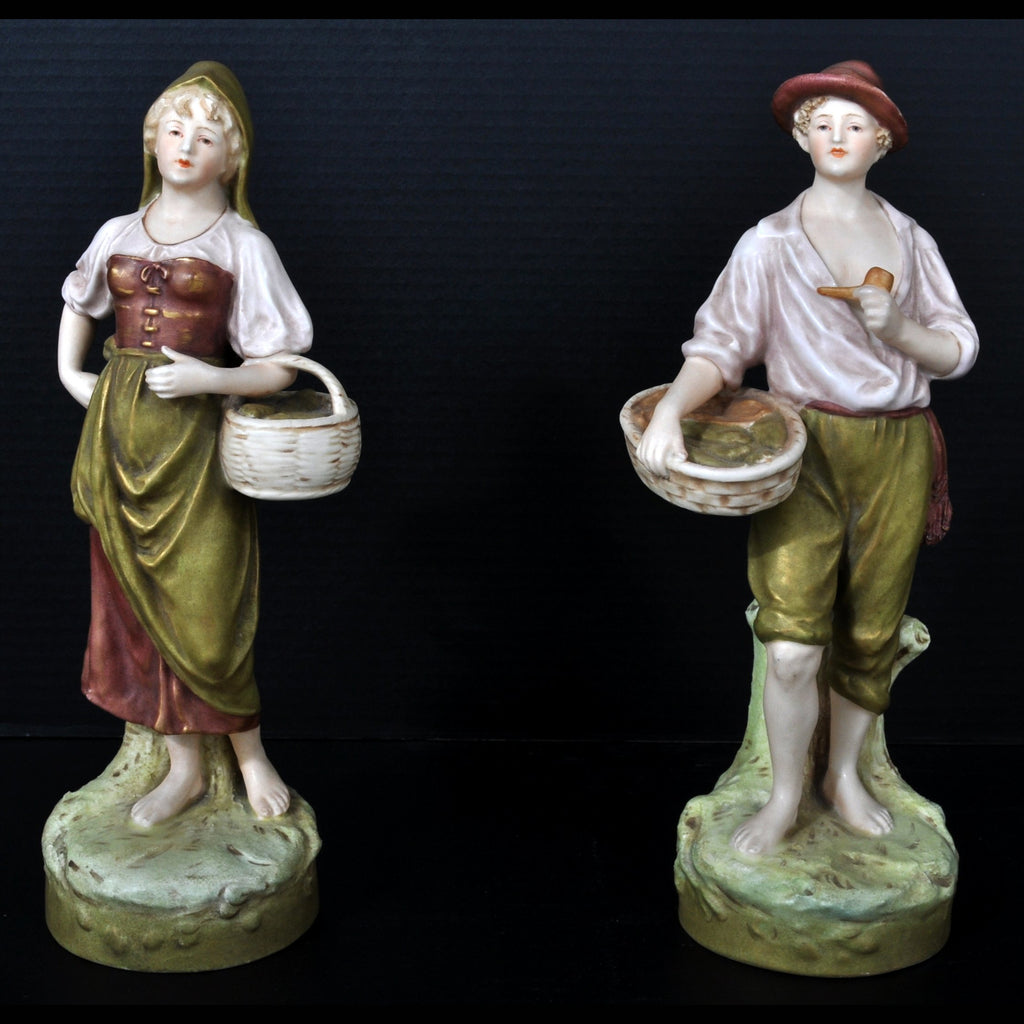 Pair of Art Nouveau Austrian Royal Dux Porcelain Figurines, Circa 1890