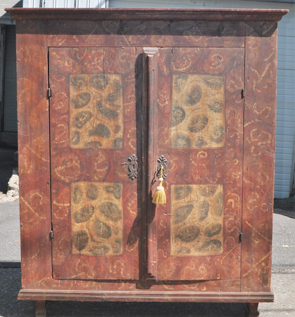 Antique German Hand-Painted Cabinet/Armoire/Dresser, Circa 1770