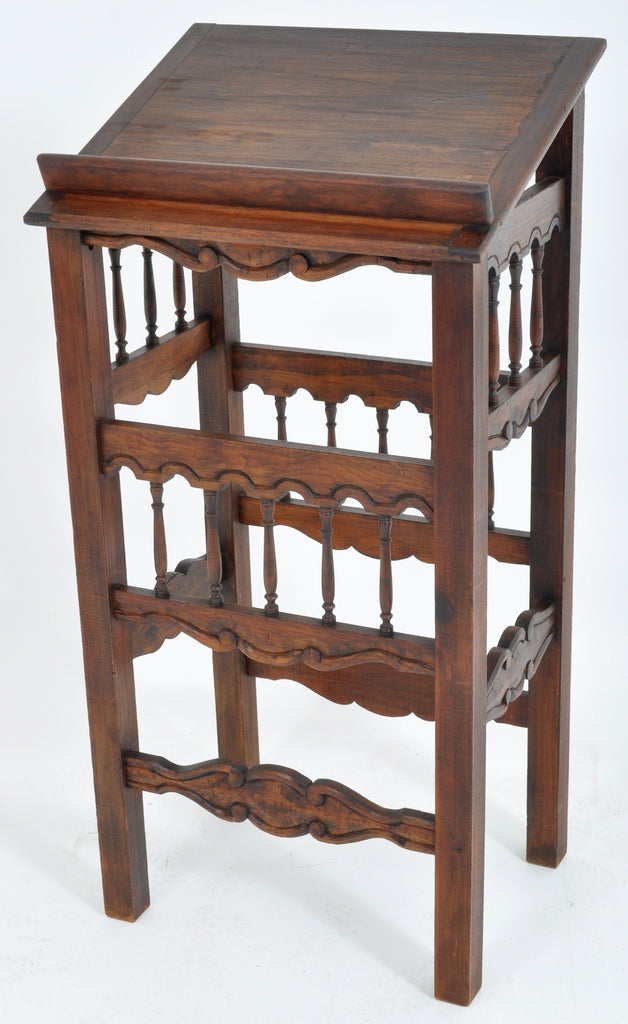 Antique French Provincial Walnut Lectern / Book / Music Stand, Circa 1880