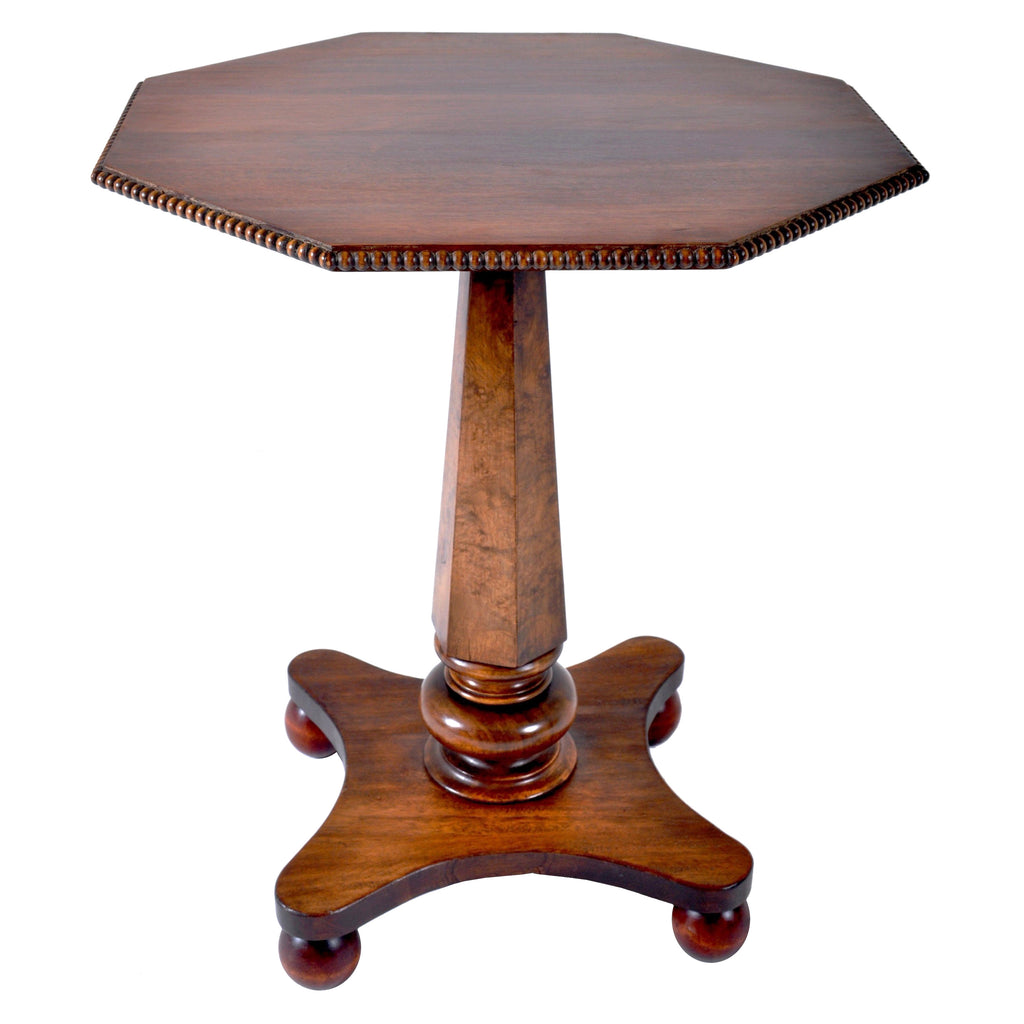 Antique William IV Rosewood and Walnut Pedestal Wine Table, Circa 1835