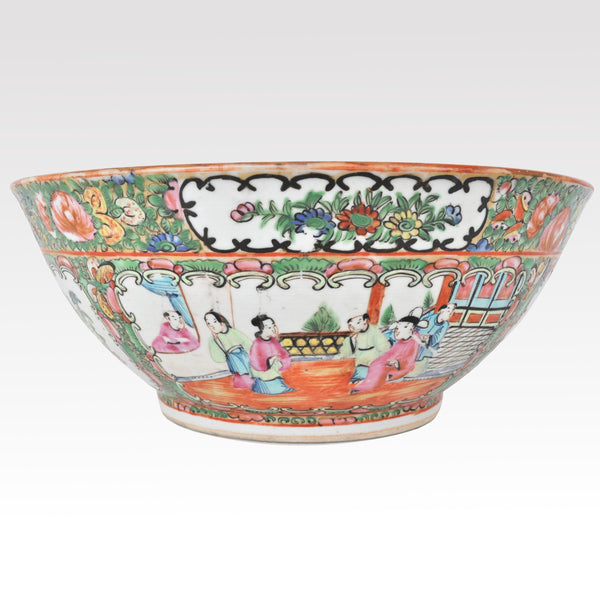 Antique Chinese Qing Dynasty Famille Rose/Rose Medallion Porcelain Bowl, Circa 1890