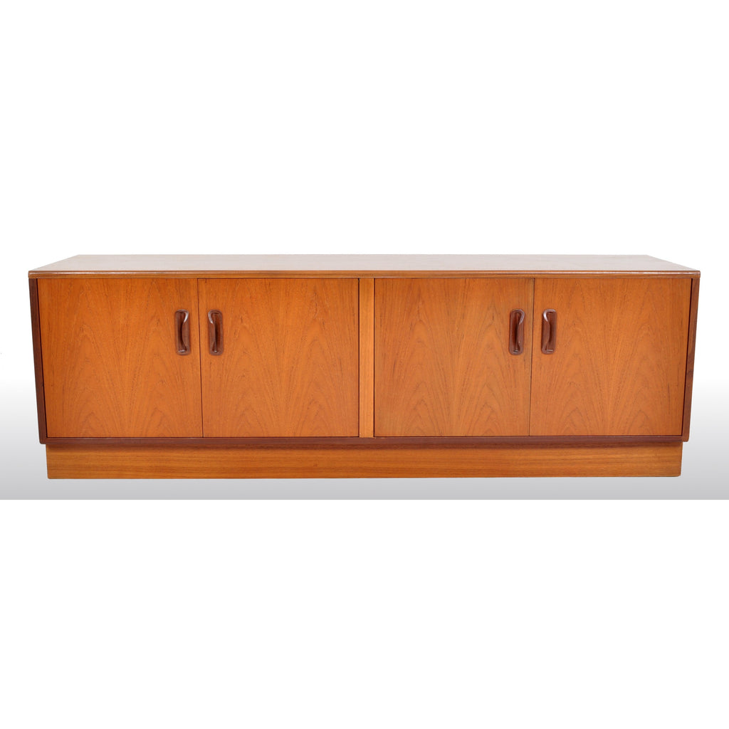 "Mid-Century Modern Danish Style Teak ""Fresco"" Console / Credenza / Media Cabinet by G Plan, 1960s"