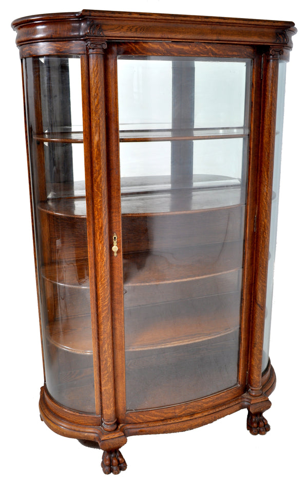 Antique American Oak China Cabinet / Hutch, Circa 1880