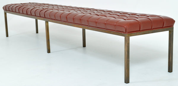 Mid-Century Modern Deep-Buttoned Window Seat/Bench, 1960s