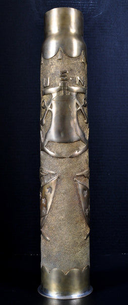Antique US Navy Artillery Shell/Trench Art From Spanish American War, Circa 1898